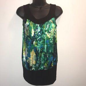 B~Wear Elastic Waist Sleeveless Dress Blouse~sz S~